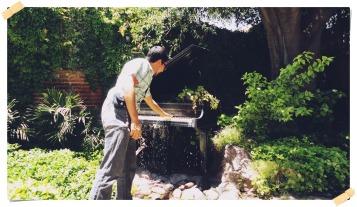 Tocando el piano fuente