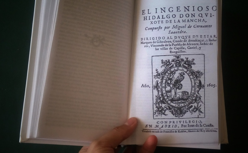 Tarea de verano: Leer el Quijote [Diario de un estudiante deletras]