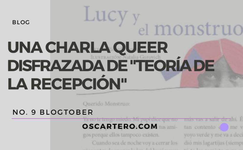 """Una charla queer disfrazada de """"Teoría de la recepción"""""""